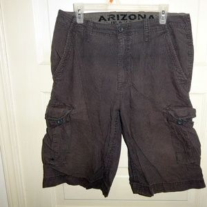 Arizona Cargo Gray Pinstripe Shorts size 32